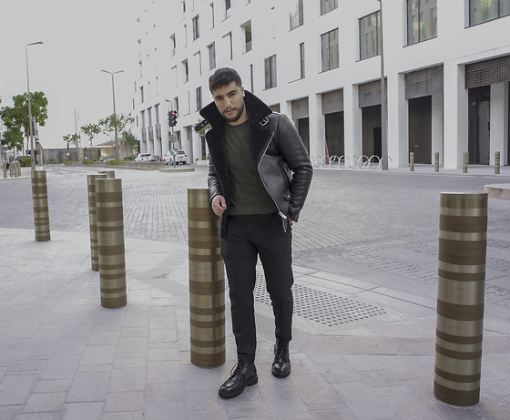 Ayoub Mani - All Saint, Allsaints Lonsleves, Allsaints Trouser, Giorgio Armani Boots - ELEGANCE STAYING IN SOMEBODY'S MEMORY #armani