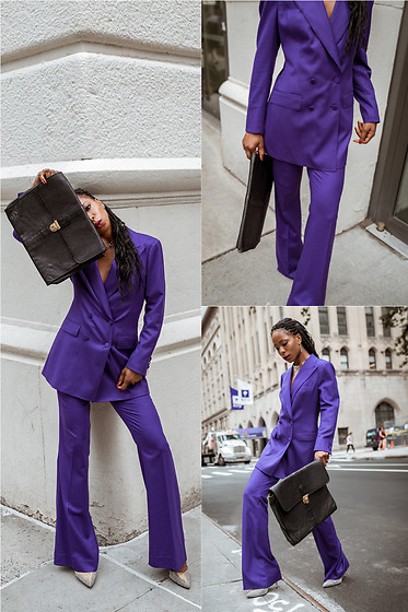 Opal S - Suistudio Purple Suit, Sarah Flint Pumps - The Purple Power Suit 🍇