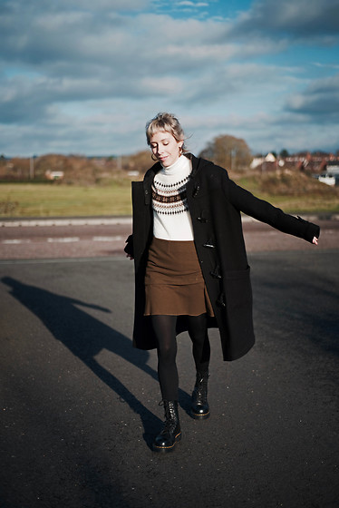 Daniella Robins - All Saints Duffle Coat, Dr. Martens Boots - Taking The Old & Styling It New