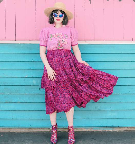 Amy Roiland - Manoush Top - Pink Taco
