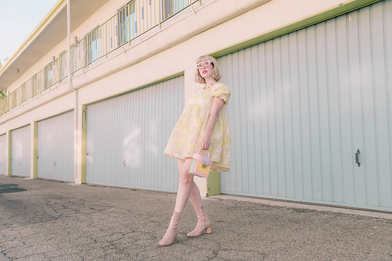Amy Roiland - Sister Jane Dress, House Of Want By Me Mini Backpack, Batu Boots - Baby Doll Genes