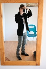 Fuuma Deva - Helmut Lang Black Pointy Plaintoe Bluchers, Dior Homme Grey Light Slim Jeans, Uniqlo White Ss Tee, Paul Smith Velvet Blazer, 1 Button, Peak Lapel, Surface 2 Air Fingers Ring - Pics a few weeks old (I think)