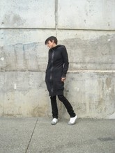 Biz C - Josh Goot Hooded Dress, American Apparel Scarf, Ksubi Lean Bean, Converse Shoes - Match