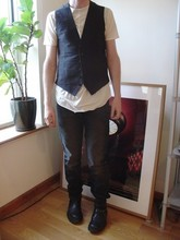 Adam Ddddd - Carol Christian Poell Waistcoat, Damir Doma Double Layer Tee, Rick Owens Jeans, Prada Boots - You or your memory