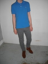 Evan . - Number (N)Ine Darted Jeans, Club Monaco Polo, Antonio Amorim Suede Chukka Boots - Soft as snow but warm inside