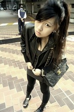 Tammy Tay - Hong Kong Jacket, Forever 21 Tube, Chanel Necklace, Chanel Bag, Gojane Same Ol' Gladiators - All Black
