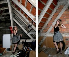 Sara L. - Handmade Skirt With Petticoat., Zara Gladiators Sandals - Closing dance on the attic