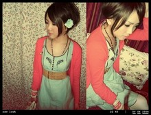 Lock Sin - H&M Dress, H&M Jacket, H&M Flower, H&M Belt - Lady look + the magic colours