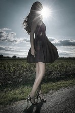 Mia Wallace - H&M Dress, Vintage Heels - Make hay while the sun shines