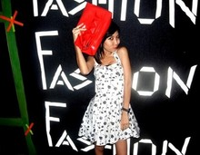 Ub-ib Indradat - Lyn Red Clutch, Topshop Black Cherries Dress - Girl jus wanna have fun!!!