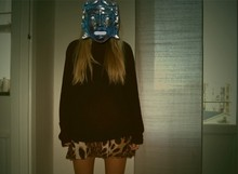 Karoline Andersson - H&M Black Sweater, Lindex Leo Skirt - The mask