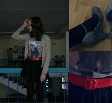 Marili K - Zara Shoes, 2nd Hand Belt, 2nd Hand Skirt, A&G Shirt, 2nd Hand Cardigan - Another day