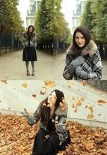 Alix - - Zara Jacket + Vintage Collar, H&M Dress, Minelli Shoes, Zara Gloves - Fall outfit