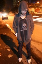 Gig Ee - Drkshdw Hoodie, Roen Shirt, Asfour Circle Pants, Vintage Boots, H&M Skull Necklace - Don't Stop Till You Get Enough