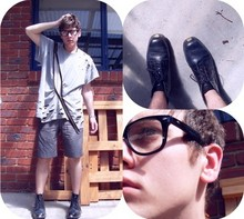 Vlad Kanevsky - Made It Myself Shreded Shirt, Kenji Shorts, Blundstones I Aged Boots, ? Glasses - I got into a fight with a tiger