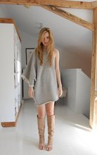 Jane Aldridge - Y 3 'Spant' Dress, Maison Martin Margiela Open Toe Boots - Five peck nosebleed