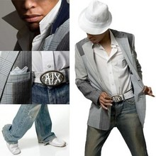 Sterling Sanders - Armani Exchange White, Leather Belt And Metal Buckle, Burberry Pocket Sqaure, Cole Haan White, Air Infinity.Driver, Alternate Look, Popped Collar, Armani Exchange Light Blue, Dirty Wash Jeans, Burberry Short Sleeve Dress Shirt, Mark Ecko Multi Pattern Sports Coat, H&M Knit Fedora - Fear Less