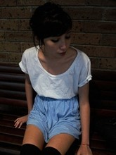 China Girl - Glebe Markets White Shirt, High Socks - NOT TONIGHT
