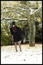 Alix - - Vintage Hat, H&M Dress, H&M Tights - Snow dandy