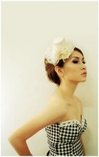 Stella Ng - Zara Classic Corset, Made By Vnee Mini Flower Hat - Be Classic