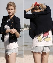 Zanita Who - Vintage Mickey Military Jacket, Vintage Micket Singlet, Levi's® Cuttoff Shorts - Bring back scrunchies