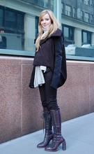 Jane Aldridge - Rick Owens Coat, Y 3 Pants, Ann Demeulemeester Boots - Day one of two in NYC