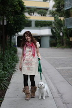 Ashley Kdot - Urban Outfitters Cute Little Dress, New York City Street One Of Those Scarves, Amsterdam, Holland Fun Boots, Noodle  My Puppy - 15 Steps