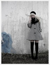Elina A - Wedins Beret, Second Hand Coat, H&M Overknee Socks - Please don't talk to me, I fall in love so easily.