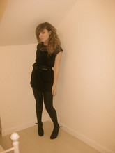 Jenny Baker - Topshop Lace, Ribbon Black And Gold, Asos Gladiators (I Forgot To Put The Tabs In...) - You're the boss, apple sauce