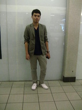 Aaron Gatapia - Ego Blazer, Garage Henley T Shirt, Padini Authentics Altered Chinos, Pallas Customised Plimsolls, Fossil Watch - Look me in the eye and tell me you don't find me attractive