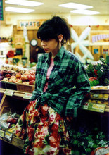 Kali Groulx - Thrifted Flannel, Forever 21 Skirt - Trader Joes for Tofurkey