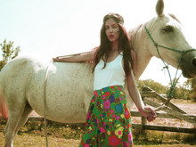 Magic Child Vintage - American Apparel Tanktop, Magic Child Vintage Highwasted Floral Pants - All The Pretty Horses Chic