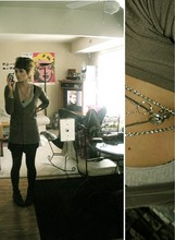 Lindsey Marie DeWitt -  Been Wearing Them For Over A Year, Necklaces, 1950's Old Boots, Target Mr Cardigan, Forever 21 Blk Leggins - Hey boy, these still mean something