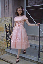 Aya Smith - Ebay Vintage Junior Dress, Target Shoes - Pretty in Pink