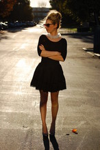Emily Schuman - H&M Black Top, Forever 21 Circle Skirt, Seychelles Silver Shoes - Tulle Time