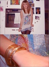 Sara Borell - Bikbok Top, Old Jeans Skirt, åHlens Pantyhose, H&M Bracelets - Christmas dinner with my friends.