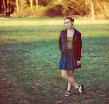 Chrissie White - Urban Outfitters Leather Jeacket, Urban Outfitters Necklace - December sun