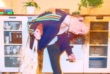 Sara Borell - Adidas Jacka, Bikbok Serie Bag, H&M Black Pantyhose - I dance until the night gets day.
