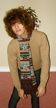 Christopher Paul - Ymc Swan Scarf, Uniqlo Cashmere Sweater, Cheap Monday Tight Jeans - E