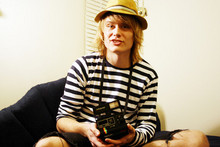 Otto S. - H&M Hat, Uniqlo Striped T Shirt, Levi's® Cut Jeans, Ebay My 'New' Polaroid - While I'm off chasing my own dreams