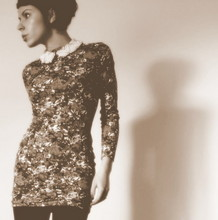 Nic D - Topshop Pearl Collar, Etsy Vintage Dress - Pearly queen