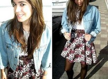 Laura Perez - Vintage Jeans Jacket, Zara Belt, H&M Skirt - I don't steal your Boyfriend
