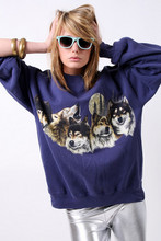 Tess Noelle - Wolf,Sweatshirt, American Apparel Leggings - Hungry like the wolf.