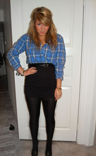Fanny Wallertz - Kompaniet Shirt, Monki Skirt, H&M Shoes - The sweet to my mean
