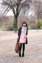 Betty A - Sandro Cardigan, Urban Outfitters Scarf, Zara, Asos, H&M - Hot n Cold