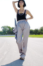 MISS MARS CLOTHING - Miss Mars Silver Cascada Pants - Cascada satin pants