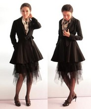Yoo Su-Ok - Vintage Scarf, I Made It Skirts, Manolo Blahnik Mary Jane - Truly..make waves in BLACK