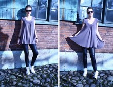 Angelica Sjöstrand - H&M Dress, Lindex Leggings, Converse Shoes, Zara Sunglasses - If I only knew what was right