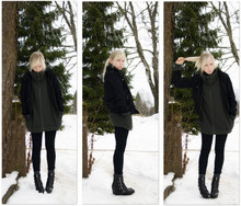 Fanny Lidhström - My Sisters Jacket, Weekday Sweater, Indiska Leggings, Dondonna Wedges - Hästsvans