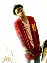 Kadeem Johnson - High School Cardigan, Cheap Monday Skinnies, Tribal Piece - Jazz Monkey...minus the instrument...